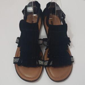 MINNETONKA Maui Fringe Suede Sandals size 8